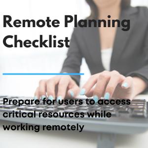 Remote Planning Checklist
